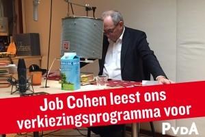 job cohen leest voor